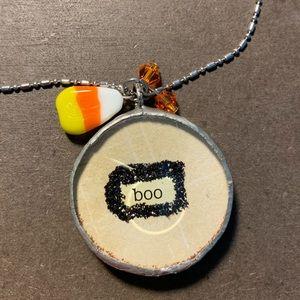 Jewelry - Reversible Handmade Halloween Necklace! BOO 🎃 👻